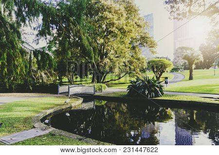 Sydney, Australia - July 13th, 2013: View Of The Royal Botanic Gardens In Sydney Cbd