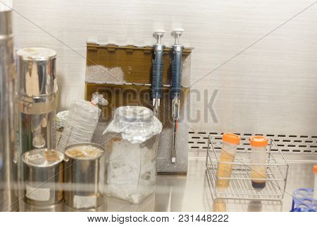 Close Up Of Lab Equipment Fume Hood