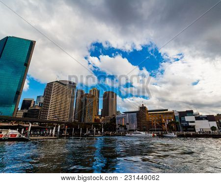Sydney, Australia - July 10th, 2013: Circular Quay In Sydney Cbd Seen From A Ferry