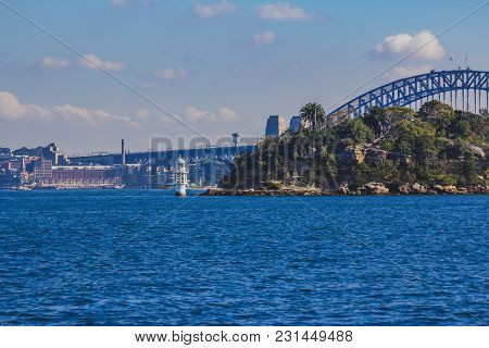 Sydney, Australia - July 11th, 2013: Sydney Harbour Bridge And Surrounding Bays