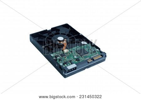 Harddisk Sata Drive Is The Data Storage For The Digital Data Computer Pc Isolated On White Backgroun
