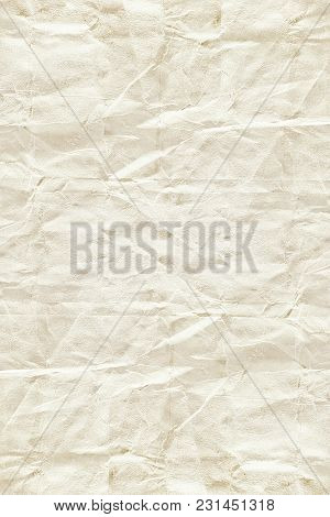 old vintage crumpled cream color tone paper