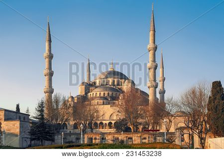 Istanbul, Turkey - March 24, 2012: Sultanahmet Mosque In Morning Light