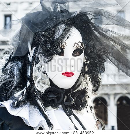 Venice, Italy - February 5 2018 - The Carnival Of Venice (italian: Carnevale Di Venezia) Is An Annua