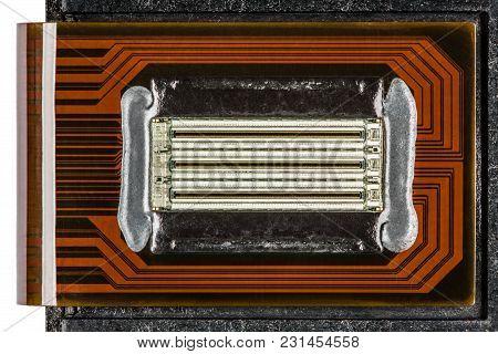 Nozzles Of A Color Inkjet Cartridge Closeup