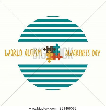 Creative Vector Abstract For World Autism Awareness Day. Holiday Or Event For People With Autism And