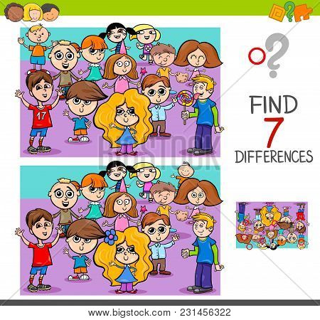Find Differences With Children Characters