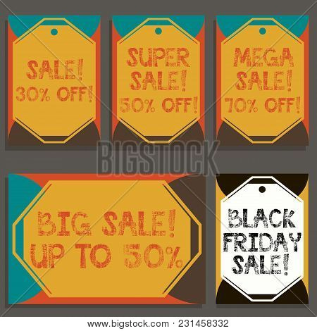 Sale Poster With Percent Discount With Grunge Style Text