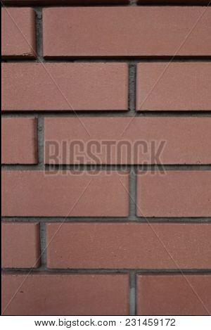 Common Stretcher Bond Brickwork Texture (front View)