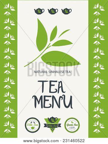 Tea Menu Design. Vector Illustration For Business Use