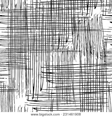 Vector Seamless Grunge Texture Of The Intersecting Lines.