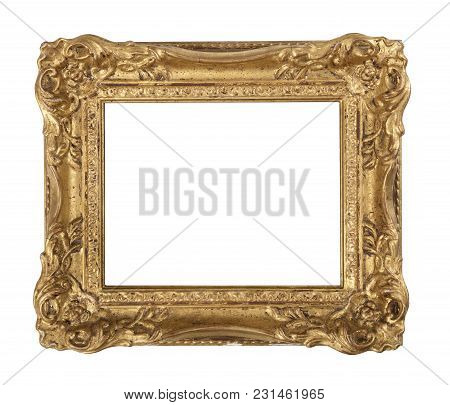 Old Oil Painting Gilded Antique Swept Frame