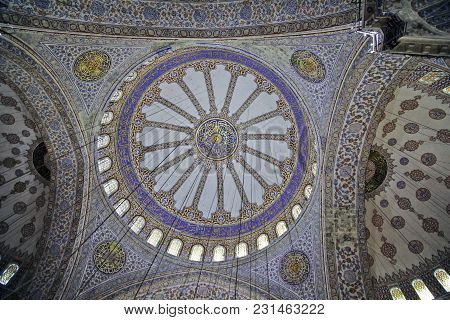 Istanbul, Turkey - March 24, 2012: The Dome Of Sultanahmet Mosque.