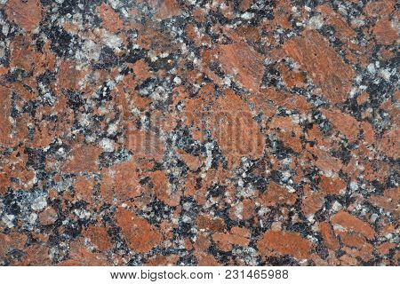 Granular Pattern Of Polished Pink Granite Stone