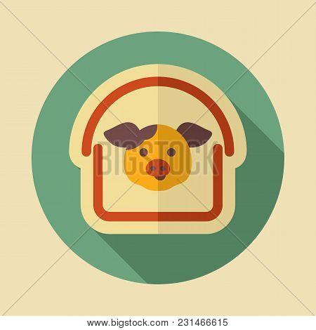 Pigsty Icon. Farm Animal Sign. Graph Symbol For Your Web Site Design, Logo, App, Ui. Vector Illustra