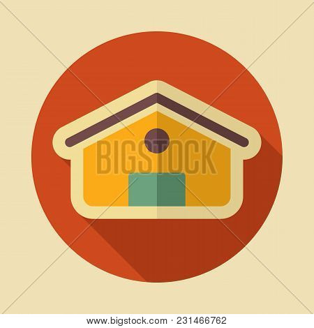 Barn Icon. Farm Animal Sign. Graph Symbol For Your Web Site Design, Logo, App, Ui. Vector Illustrati