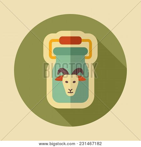 Can Container For Milk Icon. Farm Animal Sign. Graph Symbol For Your Web Site Design, Logo, App, Ui.