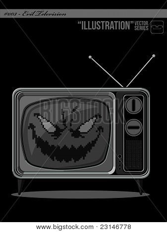 Illustration  - Evil Television