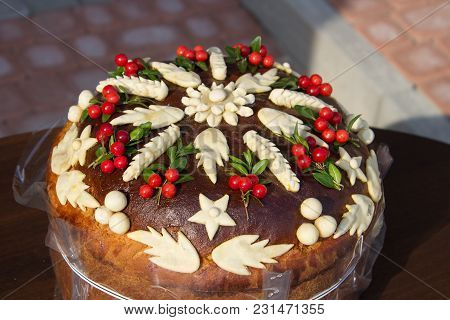 Traditions Of Ukrainians To Meet Guests With Bread Decorated