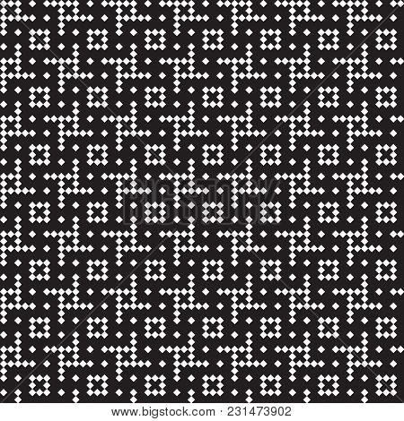 Seamless Hounds-tooth Pattern Background With Black And White Eps
