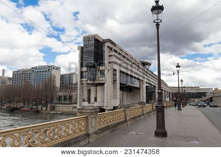 Paris, France - March 11, 2018- The Headquarters Of The French Ministry Of Finance And Economy Is Lo