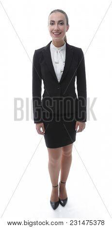 friendly female representative of the company.