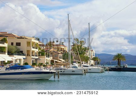 View Of Porto Montenegro In Tivat City - Full Service Yacht Marina In The Adriatic. Montenegro,  Bay