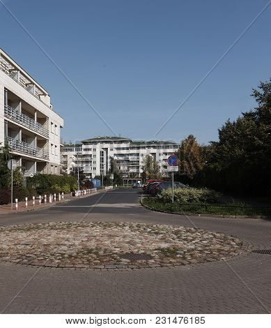 The Modern Residential Area Of Suburb Of Warsaw.