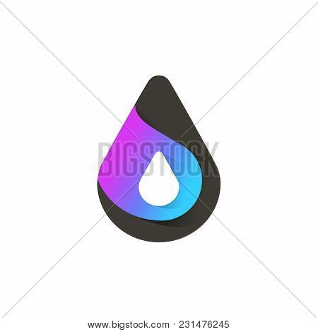 Drop. Cool Vector Icon Or Logo Template