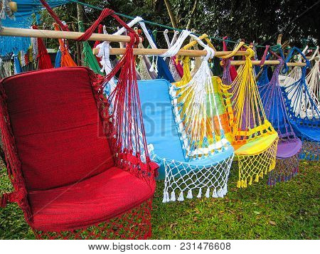 Colored Hammocks (red, Blue) For Sale In Brazil