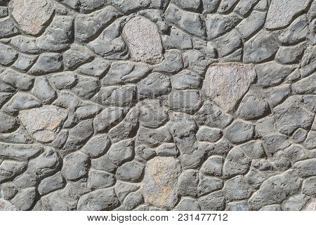 Unusual Stone Wall As Background Or Backdrop