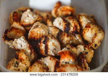 Hot Tasty Barbecue, Shashlik, Kebab, Skewer Close Up