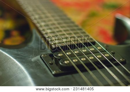 Rusty Guitar With Single Coil Pickups At Interior
