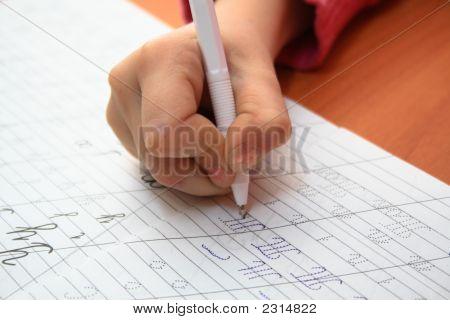 Girl'S Hand Writing
