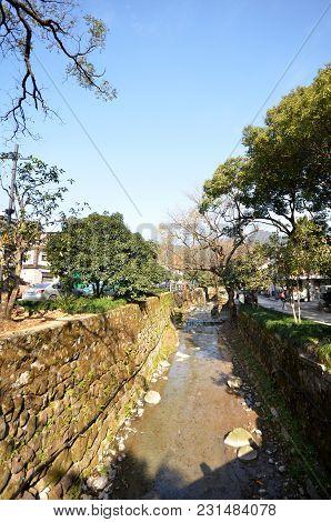 Hangzhou, China - Jan 08, 2018: View Of  Meijiawu Tea Village In Hangzhou, China. Hangzhou Meijiawu