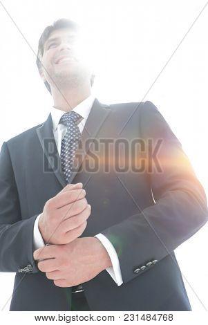 successful businessman looking forward