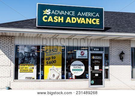 Kokomo - Circa March 2018: Advance America Consumer Location. Advance America Is A Payday Loan Compa
