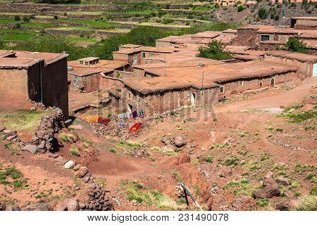 Berber Village In Atlas Mountains, Morocco Africa