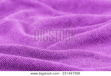 Crumpled Fabric Background And Texture. Abstract Background, Empty Template. Selective Focus
