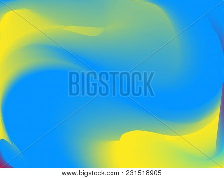 Vector Bright Holographic Background. Style 80s - 90s. Colorful Texture In Pastel,  Neon Color. For
