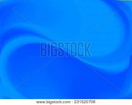 Abstract Blue Blurred Background. Smooth Gradient Texture Color. Vector Illustration. Shiny Bright W