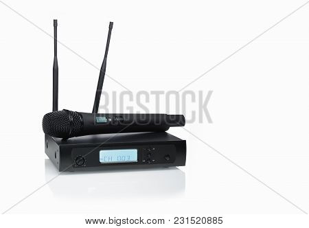 Headset  Wireless Microphone Systems On A White Background