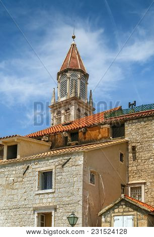 Voew Of Tower Of Trogir Cathedral From Old Town, Croatia
