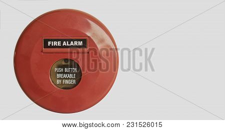 Fire Alarm Signal On Isolate White Background