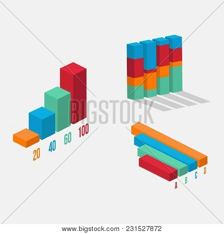 3d Data Tool Infographic Element Vector. Chart And Graphic. Business Diagram Data Finance. Infograph