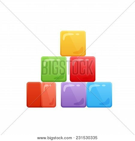 Modern Colorful Baby Cubes. Children S Toy Store, Kindergarten, Home Educational Games, Kid S Cartoo