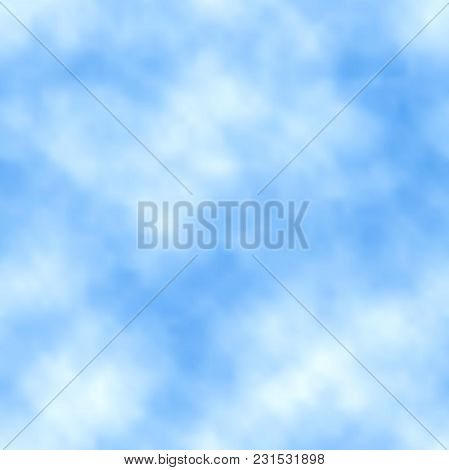 Vector Sky Background. Seamless Cloudy Texture For Your Design.