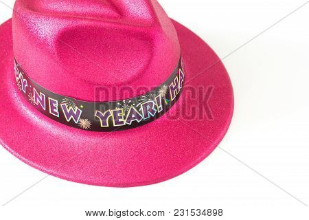 Close Up Of Hat On White Background.