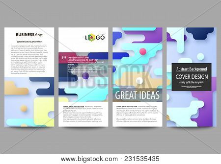Flyers Set, Modern Banners. Business Templates. Cover Design Template, Easy Editable Abstract Vector