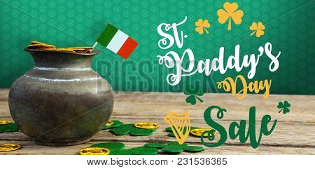 Digital composite of Patrick's day greeting